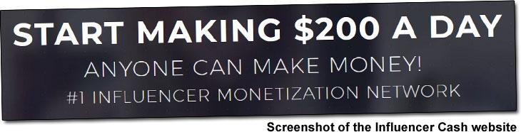 Influencer Cash Income Claim