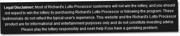 Lotto Profits Disclaimer