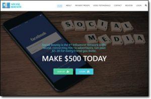 Social Bounty Website Screenshot