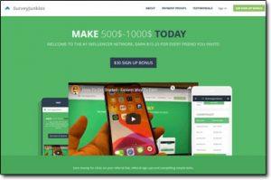 SurveyJunkies Website Screenshot