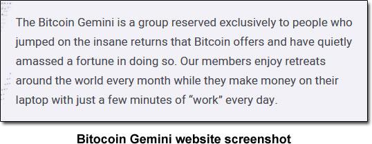 Bitcoin Gemini Description