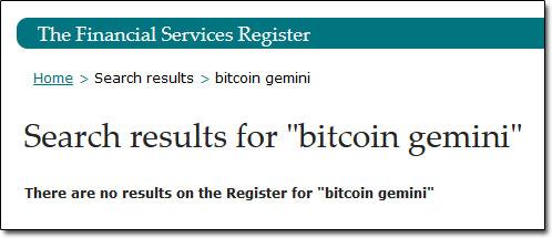 Bitcoin Gemini Financial Services Register