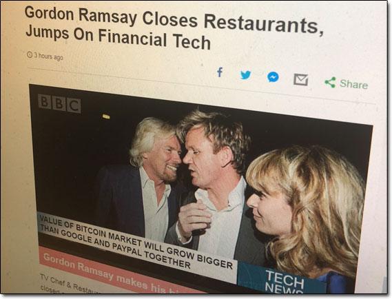 Bitcoin Gemini Gordon Ramsay