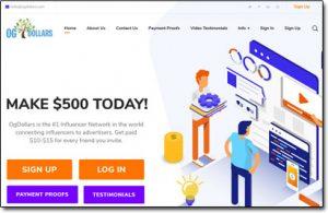 OG Dollars Website Screenshot