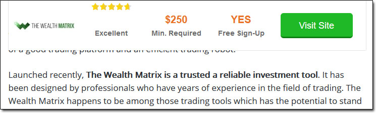 The Wealth Matrix Fake Review