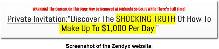 Zendyx Income Claim