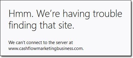 CashFlowMarketingBusiness Site Down
