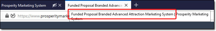 Funded Proposal Branded Advanced Attraction Marketing System