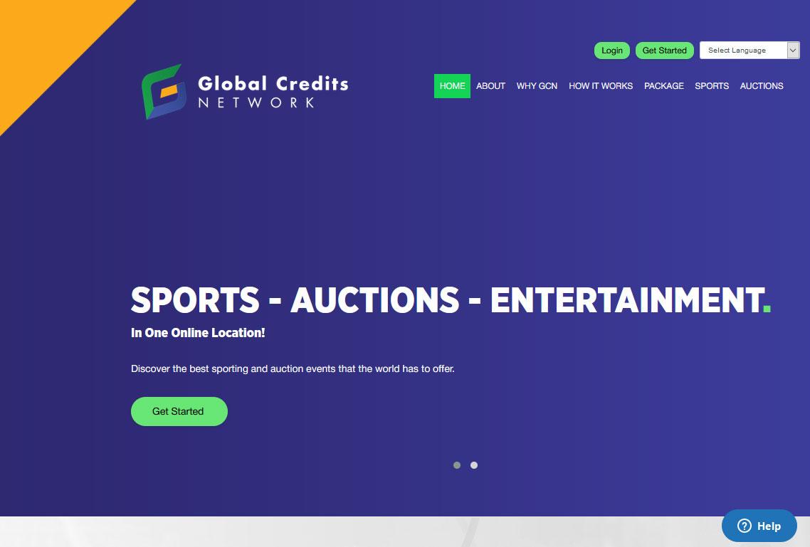 Global Credits Network Website Screenshot