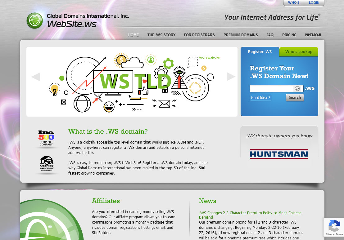 Global Domains International Website Screenshot