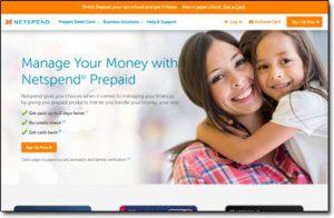 Netspend Website Screenshot