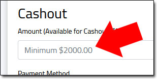 NextCash Minimum Withdrawal Limit