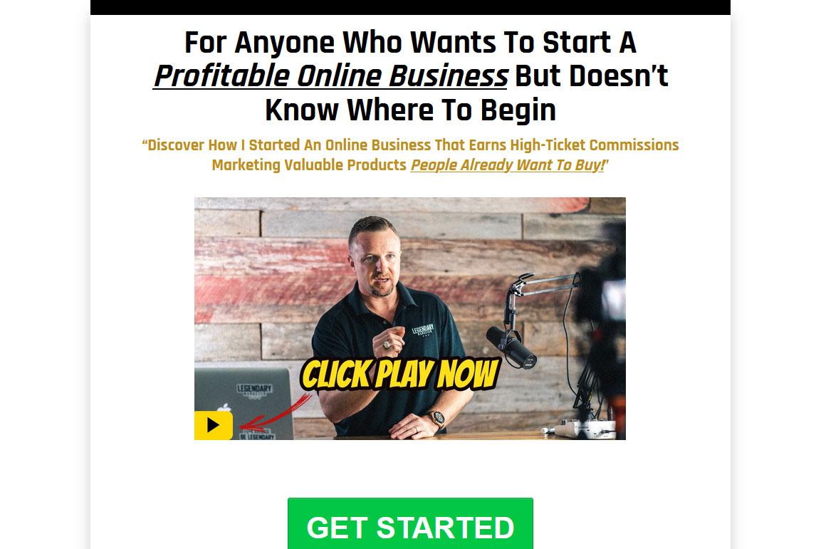 Online Business Builder Challenge Website Screenshot