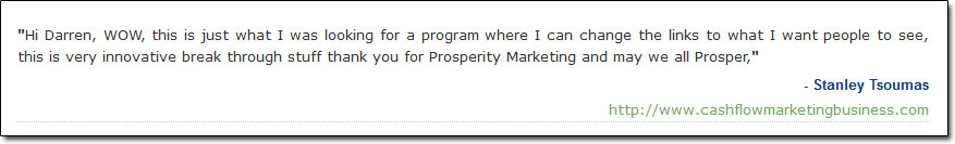 Prosperity Marketing System Testimonial 2