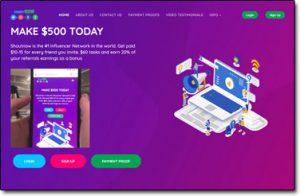 ShoutNow Website Screenshot
