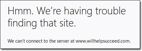 WillHelpSucceed Site Down