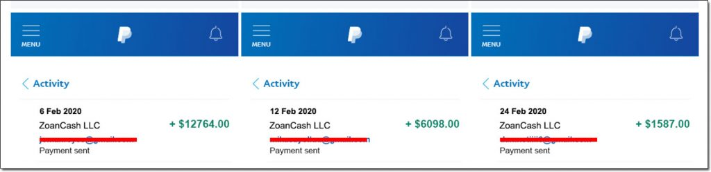 ZoanCash Payment Proof