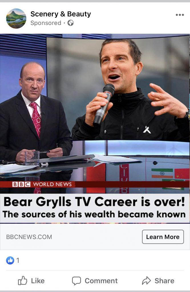 Bear Grylls Advert