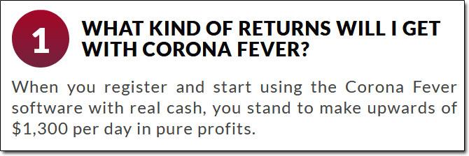 Corona Fever Profits Claim