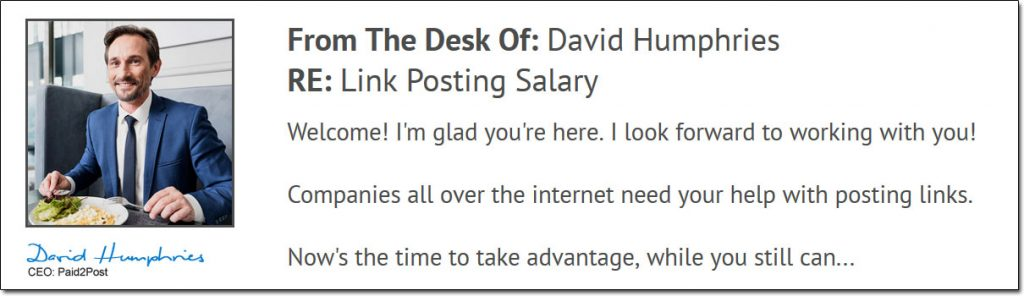 David Humphries Paid 2 Post System