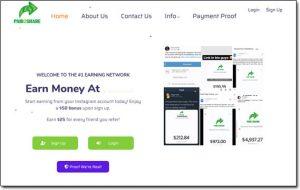 Paid2Share Website Screenshot