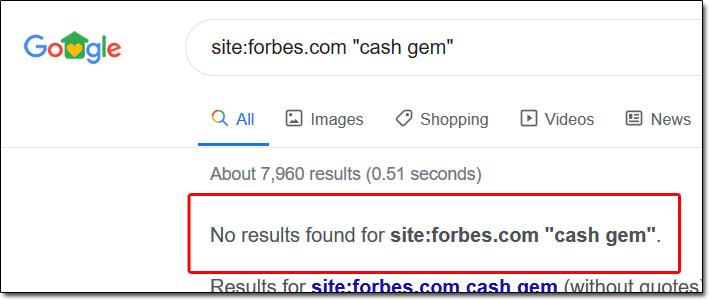 Cash Gem Forbes Search