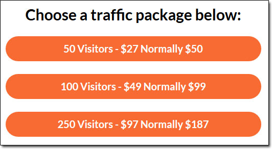 Free Turnkey Websites Traffic Package