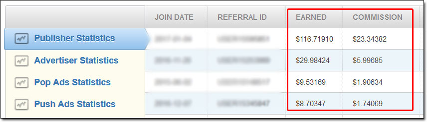 Referral Commissions Example
