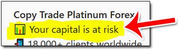 Capital At Risk Warning