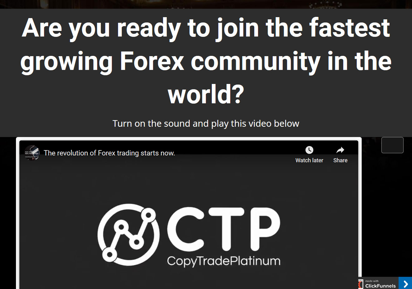 Copy Trade Profit FX Website Screenshot