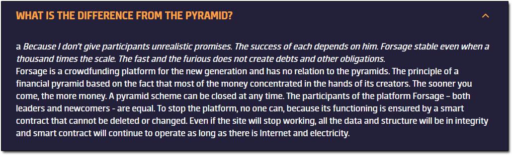 Forsage Pyramid Scheme