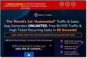 Auto Profit Sites Website Screenshot