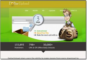 Dollar Upload Website Screenshot