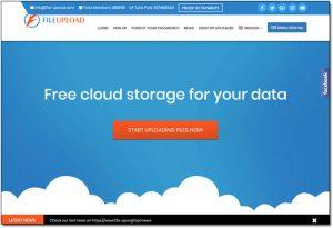File Upload Website Screenshot