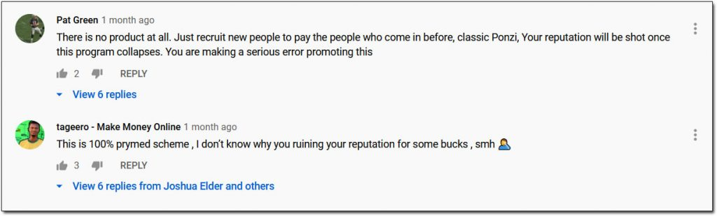 Forsage Scam Comments