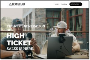 High Ticket Accelerator Transcend Website Screenshot