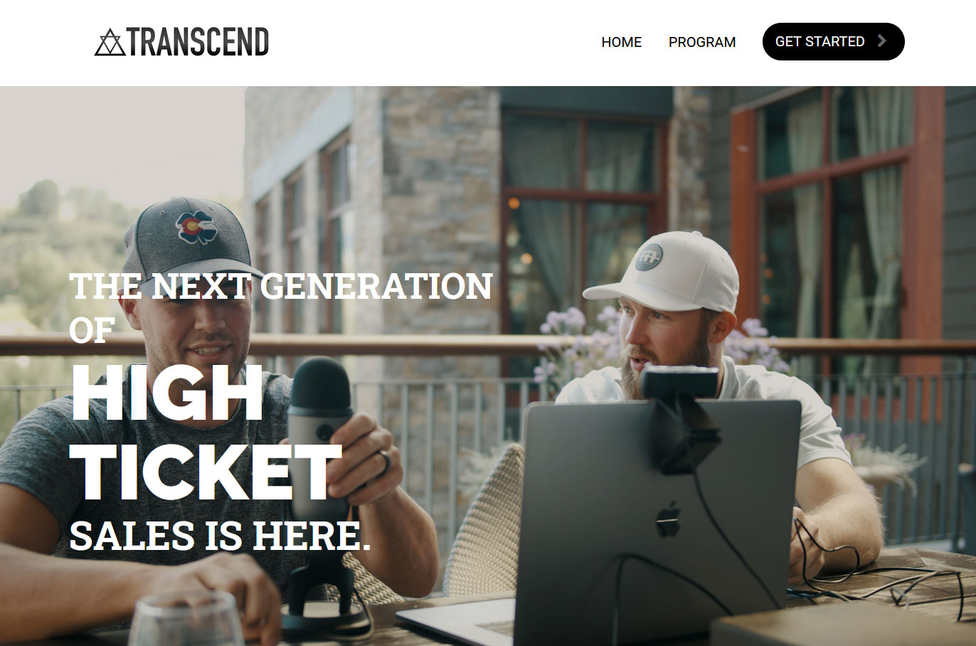 High Ticket Accelerator Transcend Website Screenshot