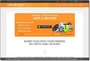Rapidgator Website Screenshot