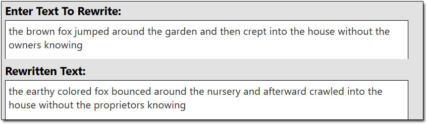 Example of Spun Text