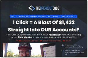 The Breakout Code Website Screenshot