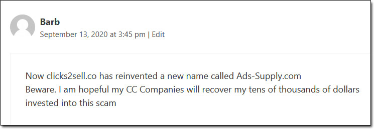 Ads Supply Scam Complaint