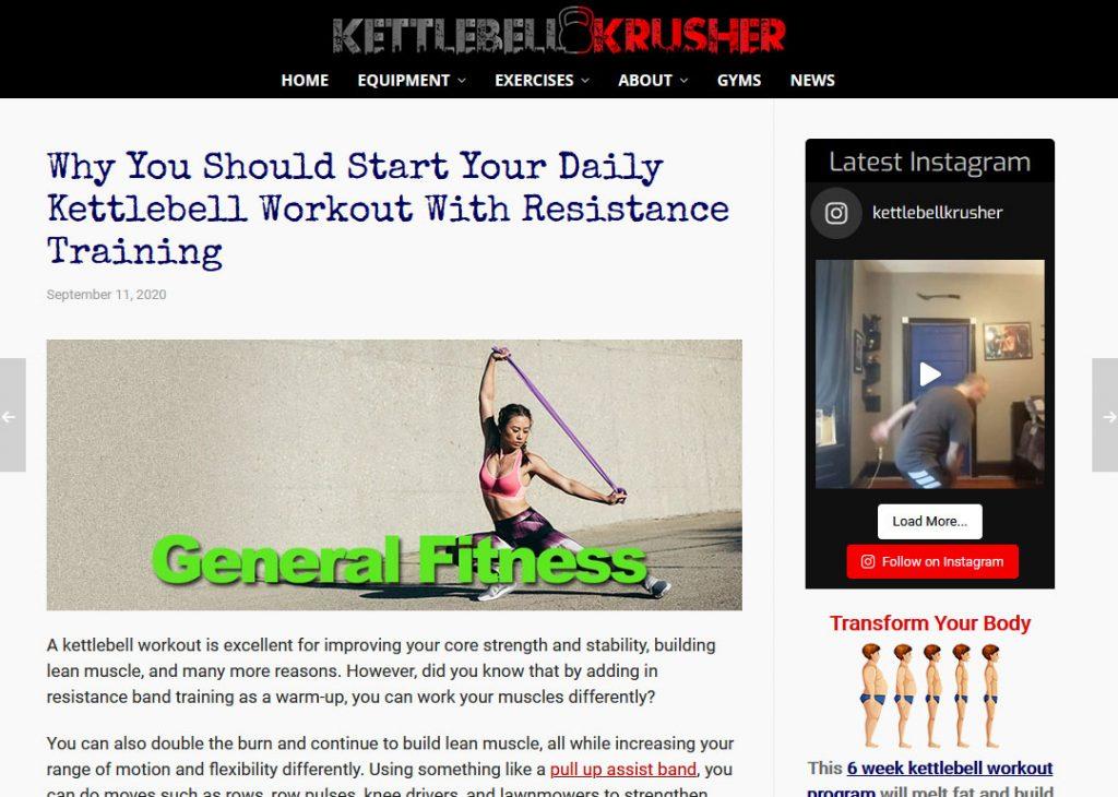 Kettlebells Niche Website