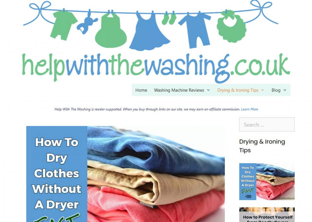 Laundry Niche Website