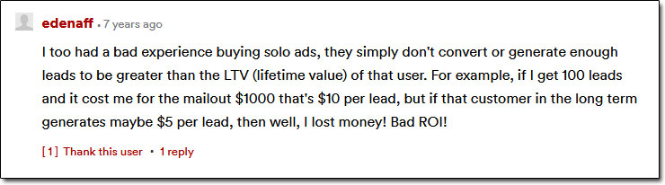 Solo Ad Experience