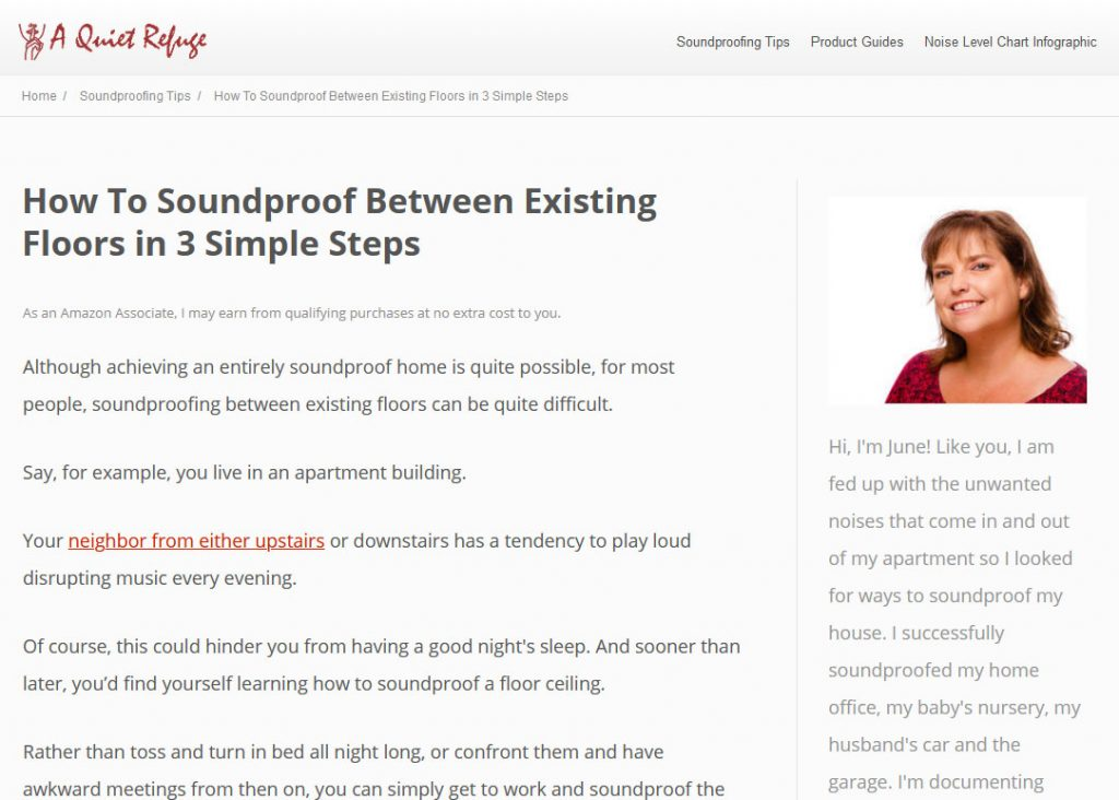 Soundproofing Niche Website