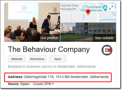 The Behaviour Company Address