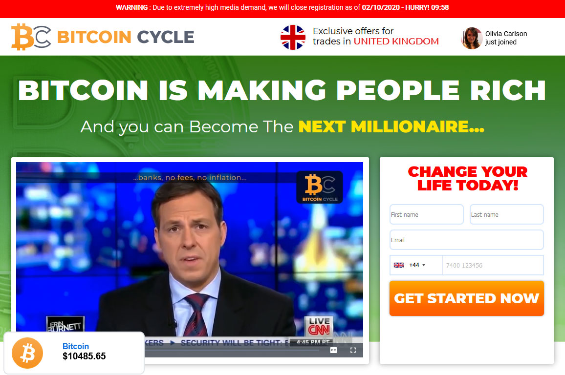 Bitcoin Cycle Website Screenshot