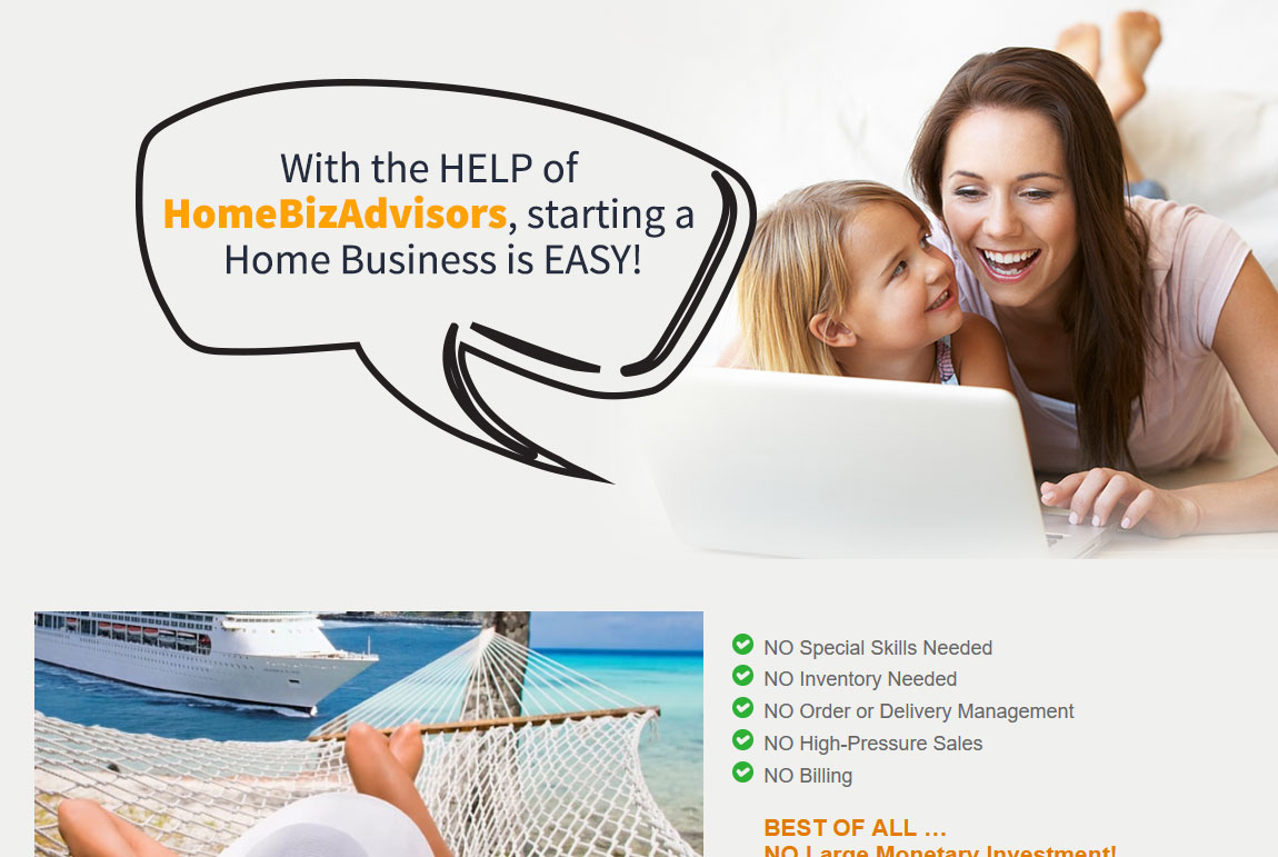 Home Biz Advisors Website Screenshot