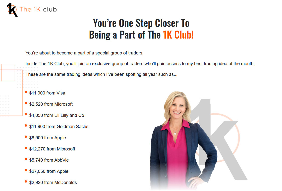 The 1K Club Website Screenshot