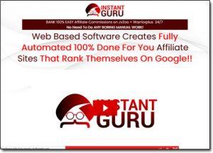 Instant Guru Website Screenshot